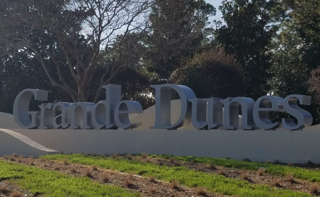 Main entrance to the grande dunes